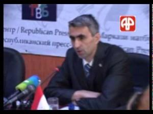 Пресс-конференция в Национальном банке Таджикистана